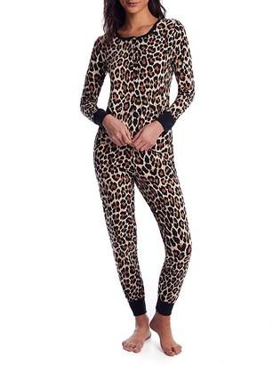 Kate Spade Leopard Knit Pajama Set
