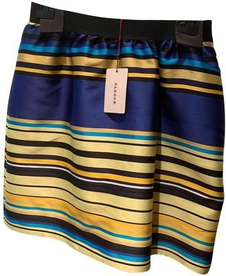 P.A.R.O.S.H. Blue Silk Skirt for Women