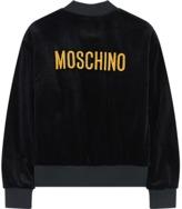 Moschino Velvet bomber jacket