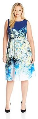 Julia Jordan Women's Plus Size Floral Fit and Flare Dress