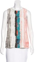 Cédric Charlier Abstract Print Sleeveless Top