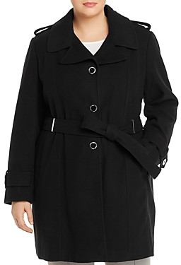 Calvin Klein Plus Single-Breasted Trench Coat
