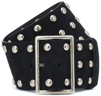 Saint Laurent Studded suede belt