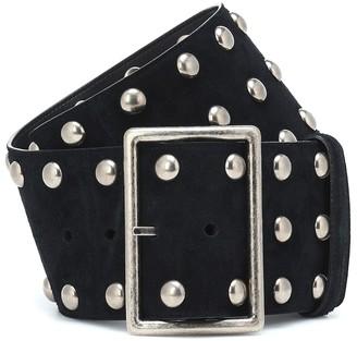Saint Laurent Studded suede belt