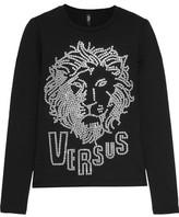 Versace Studded Cotton-Blend Top