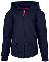 Hanes Girls` Full-Zip Hooded Sweatshirt, K252, L