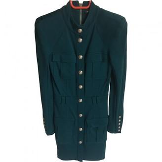 Balmain Green Wool Dress for Women