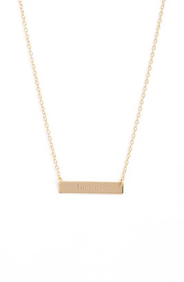 Sterling Forever Inspire Bar Pendant Necklace