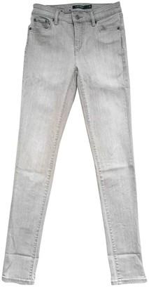 Lauren Ralph Lauren Grey Cotton - elasthane Jeans for Women