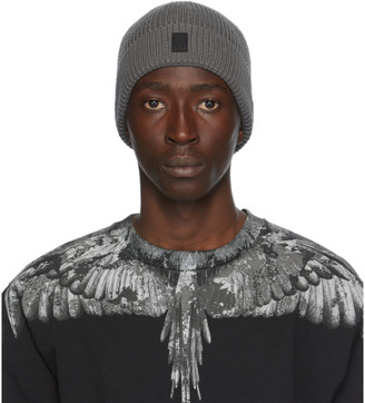 Marcelo Burlon County of Milan Grey Cross Patch Beanie