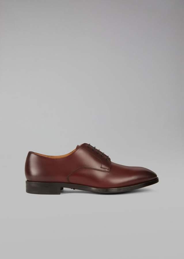 Giorgio Armani Brushed Leather Derby