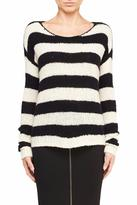 ATM Anthony Thomas Melillo Stripe Boat Neck Sweater