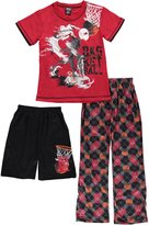 "Quad Seven Big Boys' ""Basketball Ink"" 3-Piece Pajamas"