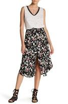 Hip Floral Midi Skirt