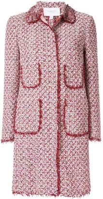 Giambattista Valli Tweed Single Breasted Coat
