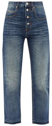 Etoile Isabel Marant Belden High-rise Cropped Straight-leg Jeans - Denim