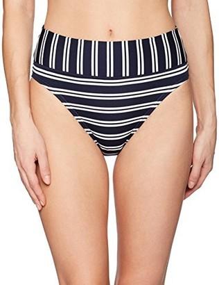 Nautica Women's Mini Stripe Core Bikini Bottom