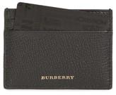 Burberry Men's Sandon Leather Card Case - Black