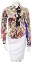 Just Cavalli Silk Paisley Top