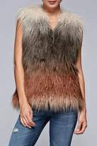 Love Stitch Lovestitch Faux Fur Ombre Vest