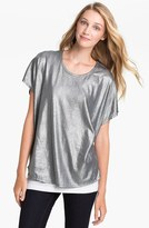 Vince Camuto Two by Slouchy Foil Tee