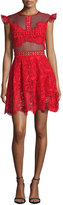 Karina Grimaldi Manhattan Lace Mini Dress, Red