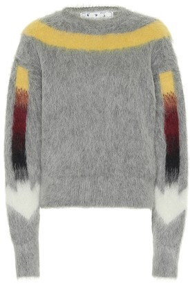 Off-White Arrows Fuzzy alpaca-blend sweater
