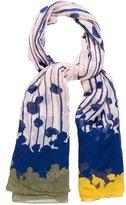 Diane von Furstenberg Silk Abstract Printed Scarf