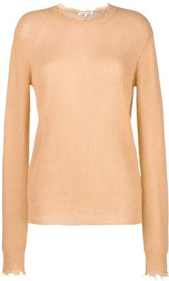 Helmut Lang long-sleeve fitted sweater