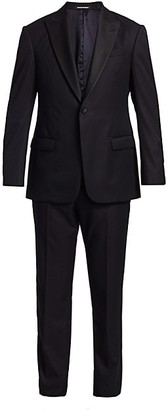 Emporio Armani G-Line Micro Tonal Single-Breasted Wool Suit
