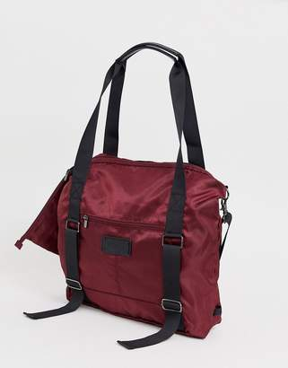 Lole packable gym bag in red