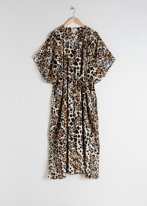 And other stories Leopard Print Cotton Kaftan