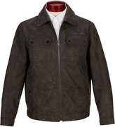 Roundtree & Yorke Faux Leather Trucker Jacket