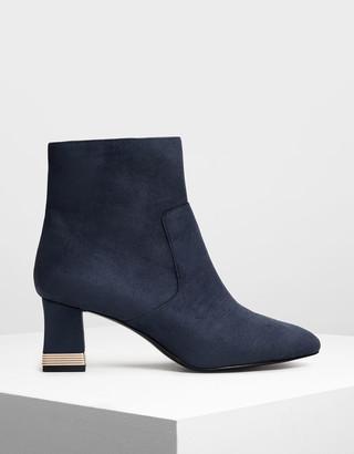 Charles & Keith Metallic Accent Heel Boots