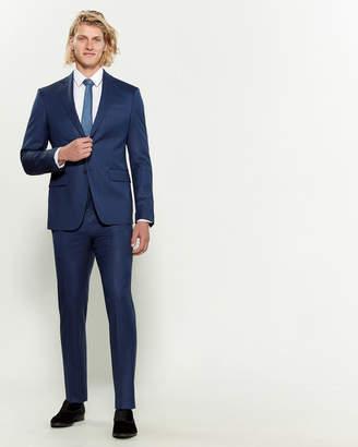 Versace Solid Notched Lapel Suit