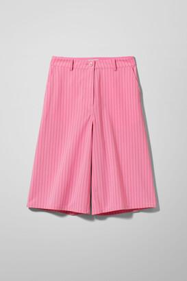 Weekday Sanna Pinstripe Shorts - Pink