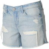 Mudd Juniors' Fray Hem Ripped Midi Shorts