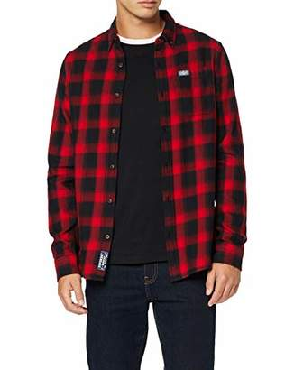 Superdry Men's Workwear L/s Shirt Casual (Red Check 33j), 18 (Size: )