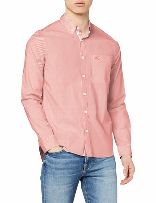 Calvin Klein Jeans Men's Washed Stripe Stretch Shirt 'F' Casual