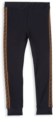 Fendi Little Girl's & Girl's Logo Stripe Leggings