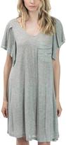 Bow & Arrow Melange Gray Flutter-Sleeve T-Shirt Dress