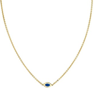 Andy Lif 18kt gold enamel Cats Eye necklace