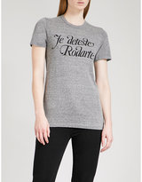 Rodarte Love/Hate stretch-jersey T-shirt
