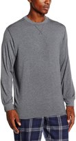Hom Billy Modal Stretch Luxe Jersey Long-Sleeve Men's Top, Grey