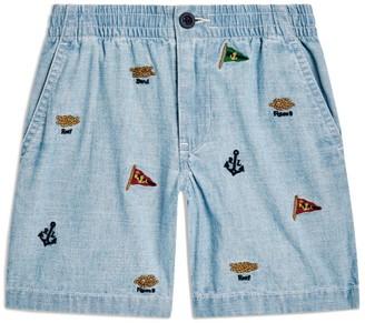Ralph Lauren Kids Nautical Embroidered Shorts (2-4 Years)