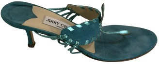 Jimmy Choo Turquoise Suede Sandals