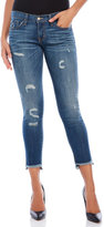 Flying Monkey Distressed Cropped Skinny Jeans