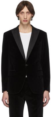 eidos Black Velvet Tuxedo Blazer