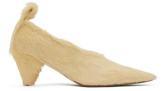 Jil Sander Yellow Calf Hair Heels