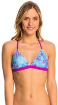 Speedo Turnz Tie Dye Printed Tie Back Swim Top 8138498